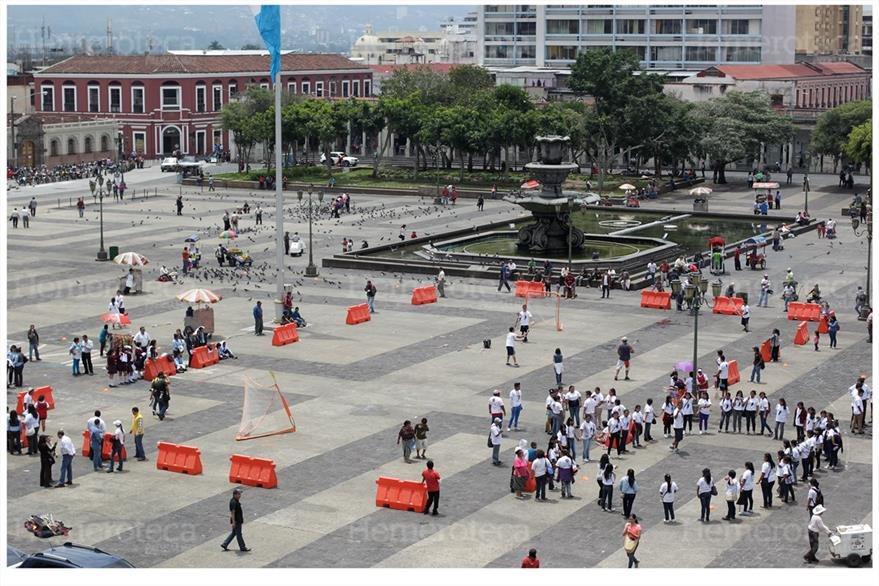 El Ministerio de Cultura y Deportes, organizó un juego de pelota  Maya  en la plaza Central el 29/08/2014 ( Foto: Hemeroteca PL)