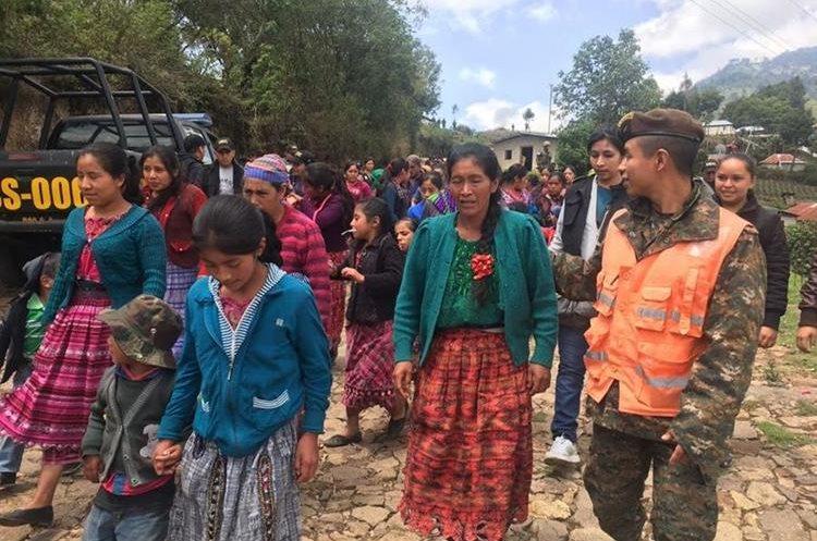 Aproximadamente 75 familias regresaron en esta ocasión.