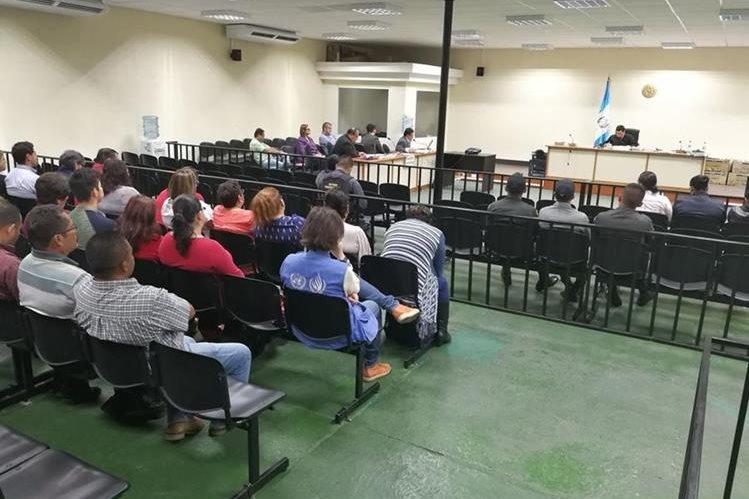 Desarrollo de la audiencia del caso Hogar Seguro en el Juzgado Cuarto Penal. (Foto Prensa Libre: Esbin García)