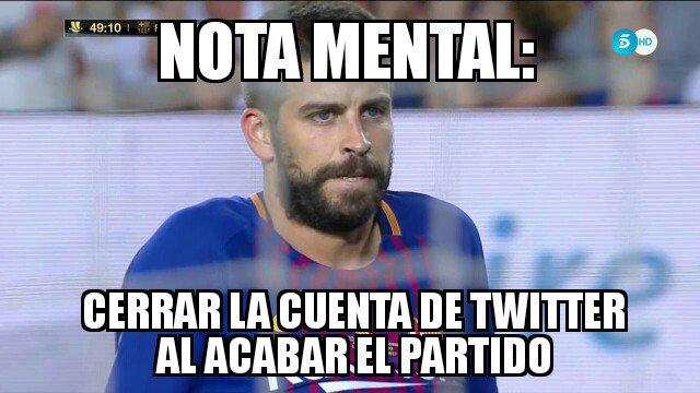 Gerard Piqué fue el principal protagonista en los memes de la Supercopa de España. (Foto Prensa Libre: Twitter)