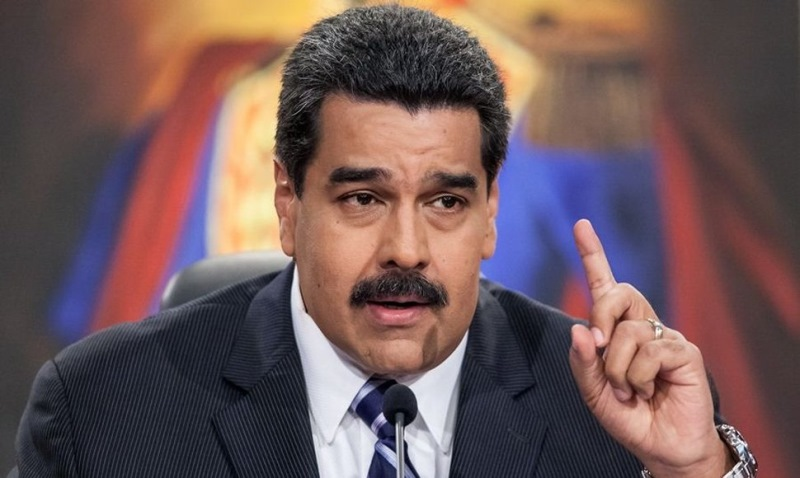Nicolás Maduro, presidente de Venezuela. (Foto Prensa Libre: EFE)