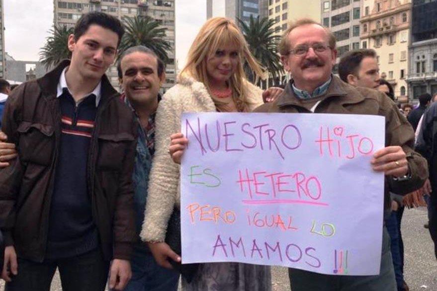 Lara Ramírez en una protesta en Montevideo, Uruguay. LARA RAMÍREZ