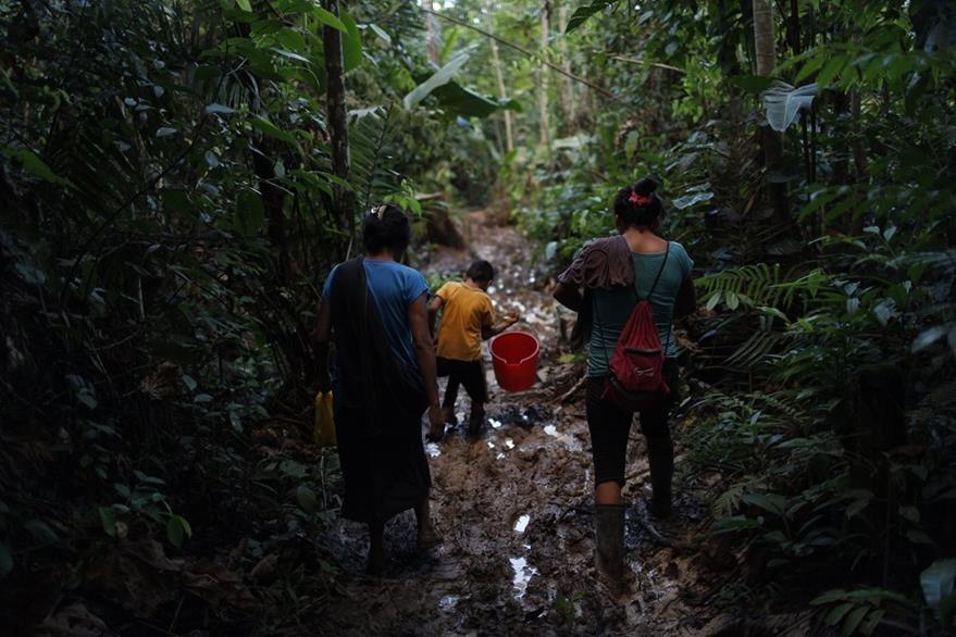 Campesinos peruanos deben caminar durante horas para sacar sus cultivos tradicionales a la venta. (Foto Prensa Libre: AP).