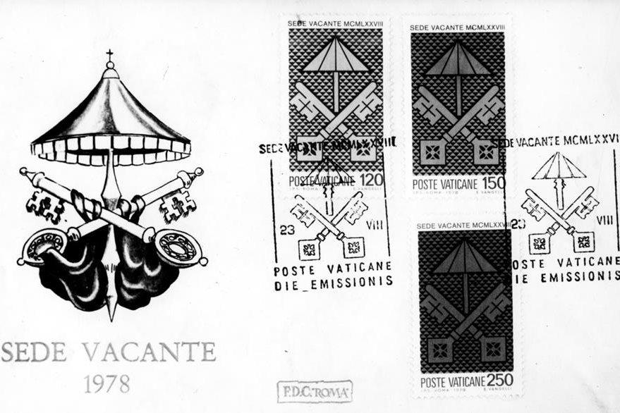 Sellos postales emitidos luego de la muerte del Papa Paulo VI cuando la silla de San Pedro quedó sin ocupante a este periodo se le conoce como Sede Vacante. (Foto: AP)