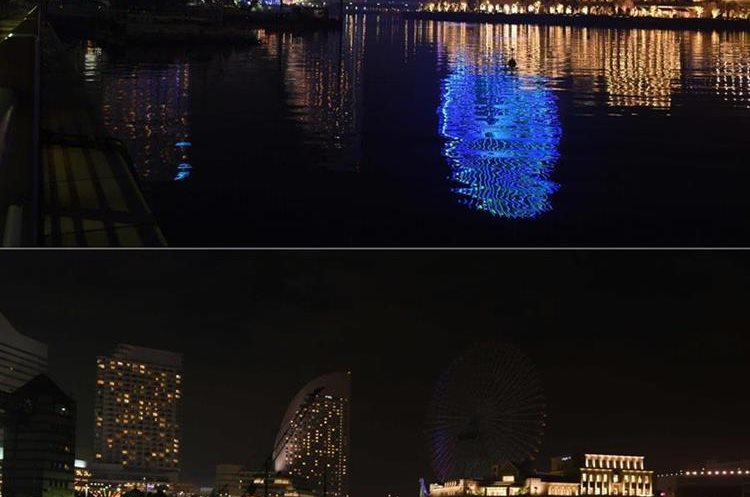 (COMBO) This combination of pictures created on March 19, 2016 shows Yokohama city