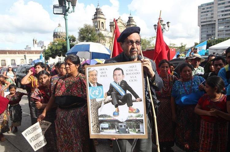 Morales habría pedido a Antonio Gutérres, de la ONU, que Cicig se limite al mandato que tiene establecido.