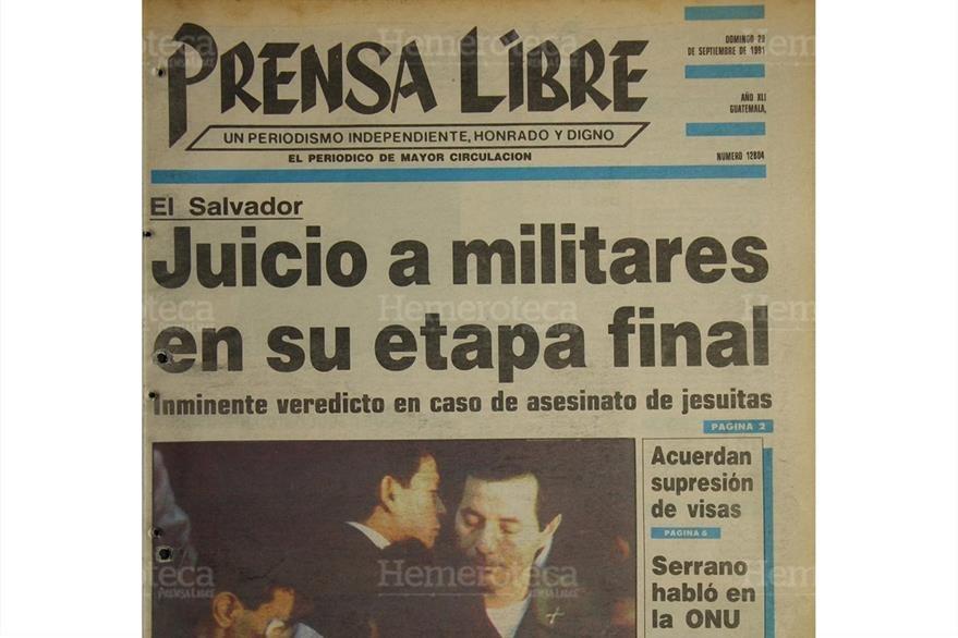 Portada del 29/9/1991 sobre la etapa final del juico contra Benavides. (Foto: Hemeroteca PL)
