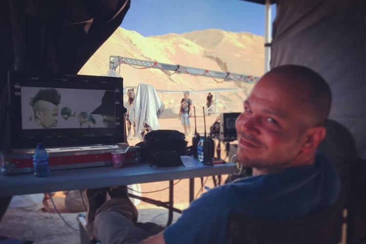 Residente trabaja en la producción de sus videoclips. (Foto Prensa Libre: Tomada de instagram.com/residente)