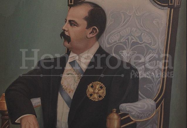Retrato del ex presidente Manuel Estrada Cabrera.  (Foto: Hemeroteca PL)