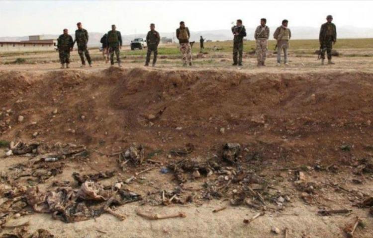 Los cadáveres fueron lanzados en una zona del barrio de Al Shuhada, en Faluya. (Foto Prensa Libre:AFP).
