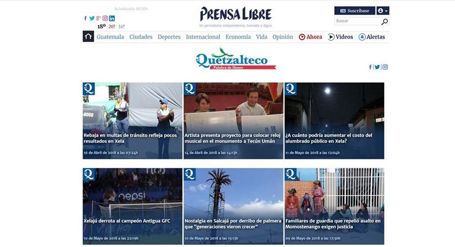 A partir del 1 de julio de 2017, elQuetzalteco dio un giro y se fortaleció con Prensa Libre pasando a un formato digital.