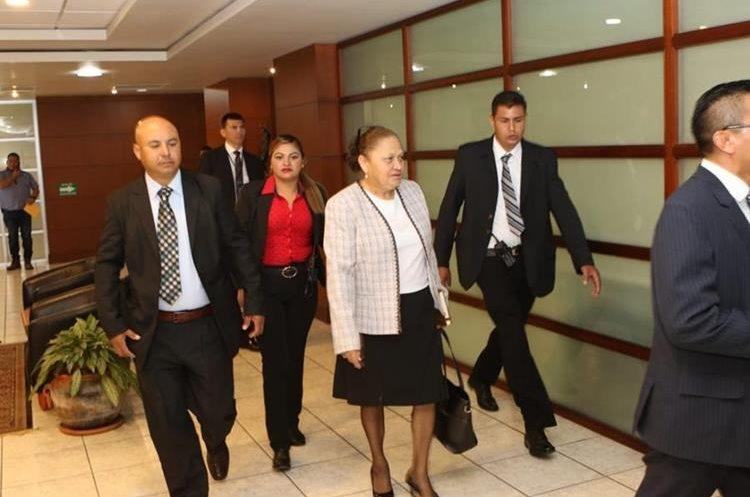 La fiscal general María Consuelo Porras previo a su toma de posesión. (Foto Prensa Libre: Esbin García)