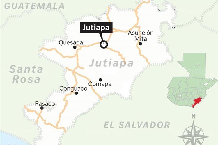 04/01/2009. Ubicación del departamento de Jutiapa y su cabecera Jutiapa. (Foto: Hemeroteca PL)
