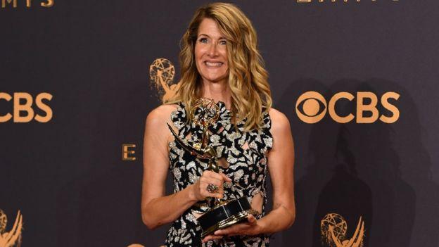 Laura Dern expresó una profunda gratitud hacia el equipo que hizo posible la miniserie Big Little Lies. AFP/GETTY IMAGES