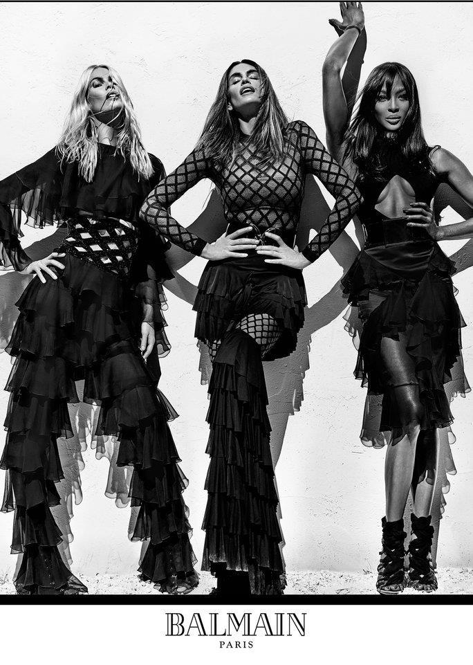 El último trabajo de Cindy como modelo fue en la reciente campaña de la casa Balmain junto a Naomi Campbell y Claudia Schiffer. (Foto Prensa Libre: Hemeroteca PL)