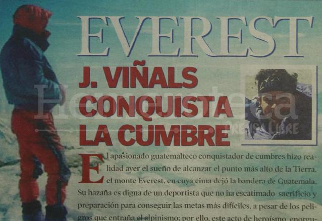Jaime Viñals conquistó la cumbre del Everest el 23 de mayo de 2001. (Foto: Hemeroteca PL)