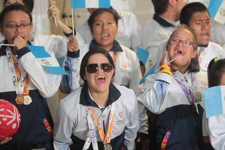 37 medallas consiguieron los atletas de Olimpiadas Especiales que representaron a Guatemala en Panamá. (Foto Prensa Libre: Norvin Mendoza).