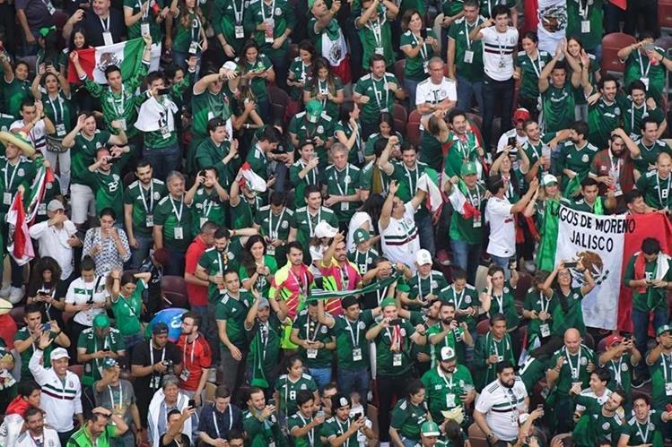 Tradicional grito de la afición mexicana fue el motivo por el cual fue multada la selección Tricolor. (Foto Prensa Libre: AFP)