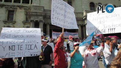 Los manifestantes han demostrado su malestar por campañas políticas ( Foto Prensa Libre: Hemeroteca PL)