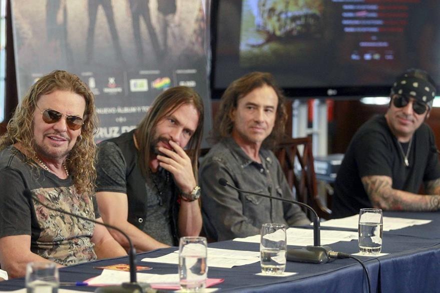 Los integrantes del grupo mexicano Maná, durante una conferencia en Tenerife, España. (Foto Prensa Libre: EFE)
