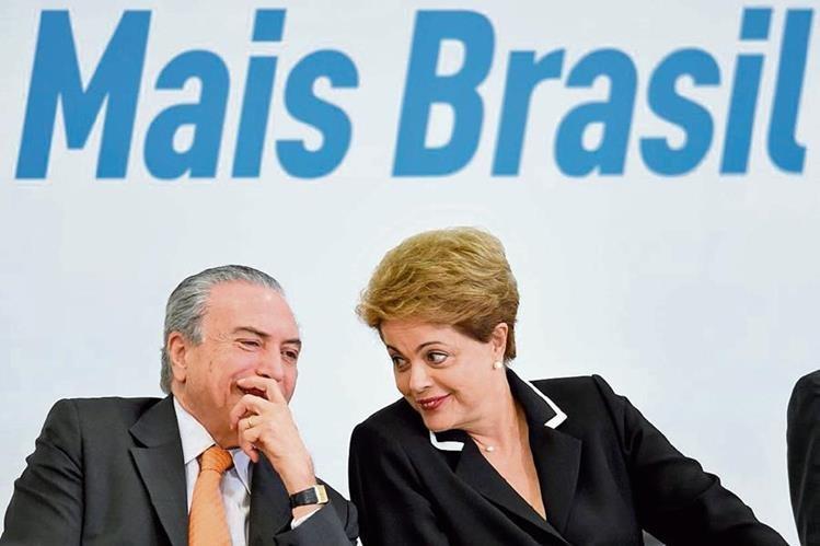 La presidenta de Brasil, Dilma Rousseff y el vicepresidente Michel Temer presentaron el plan de exportaciones.