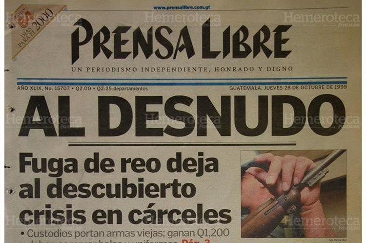José Fernando Carías se fugó de cuando era trasladado en un bus urbano luego de una audiencia en Tribunales. 28/10/1999. (Foto: Hemeroteca PL)