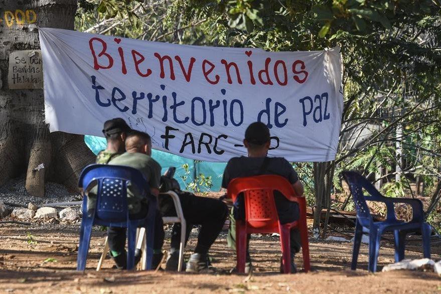 Los guerrilleros de las Farc fueron movilizados a zonas de reinserción. (AFP)