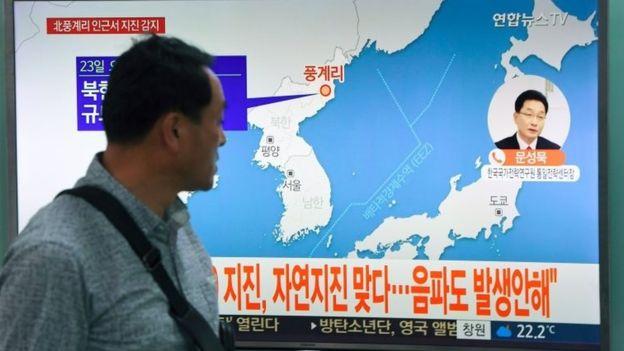Un sismo ocurrió este sábado en Corea del Norte próximo a las pruebas nucleares. AFP