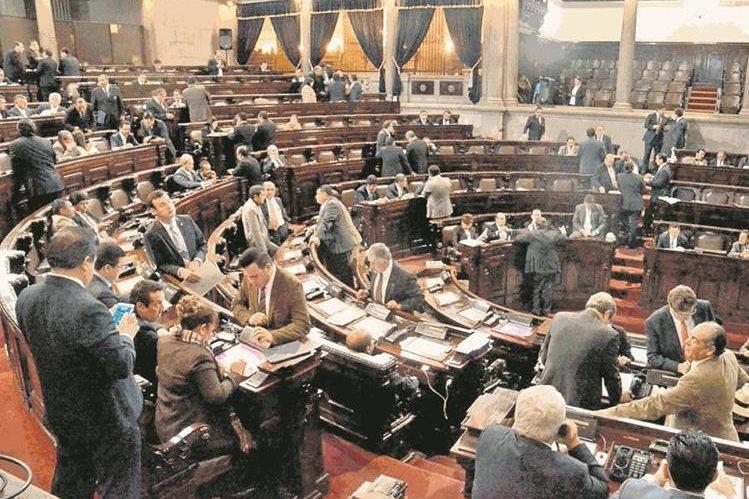 Pese a que hay más diputados de izquierda, no compartirán la misma agenda. (Foto Prensa Libre: Hemeroteca PL)