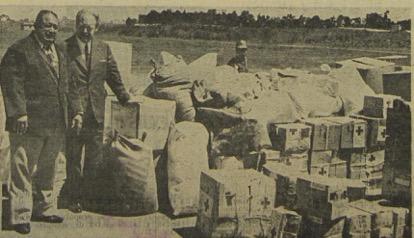 América del Sur se volcó en ayuda para el país en 1976. En la imagen, donativos de Uruguay. (Foto: Hemeroteca PL)