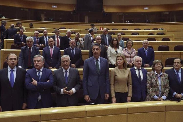 Sesión constitutiva de la comisión conjunta del Senado que tramitará las medidas aprobadas por el Gobierno al amparo del artículo 155 de la Constitución. (Foto Prensa Libre: EFE)