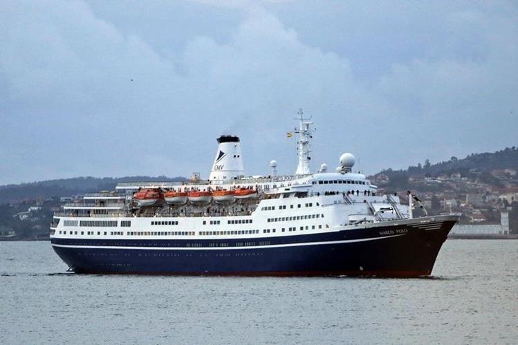 Británica trató de nadar hasta el crucero Marco Polo.