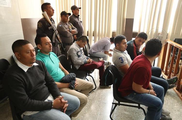 Audiencia a supuesta banda de saqueadores , integrada por 10 hombres que se dedicaban al robo en residencias en la ‡rea metropolitana.    Fotografia Esbin Garcia