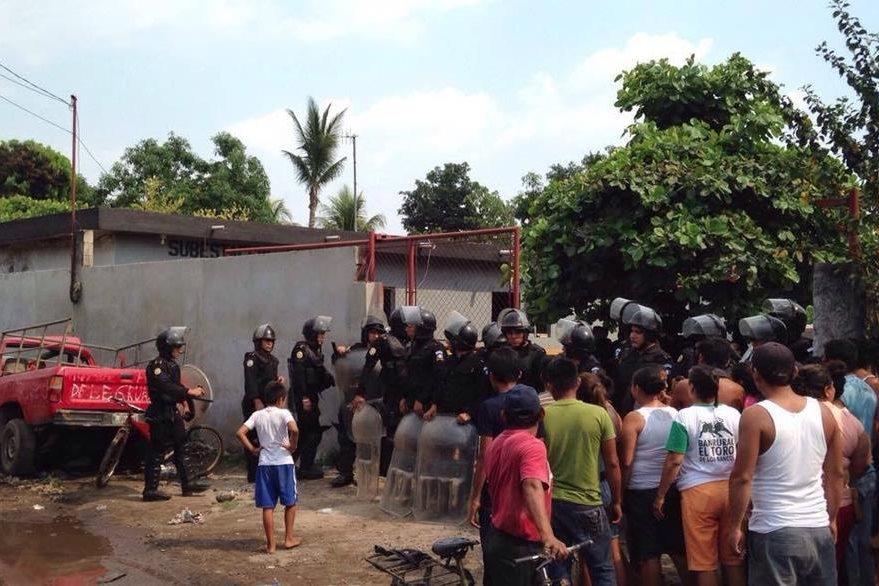 Lugar donde se registró el supuesto robo de las niñas, en Río Bravo, Suchitepéquez. (Foto Prensa Libre: Cortesía).