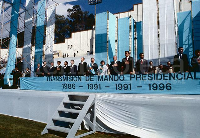 Toma de Posesión del presidente Serrano Elías el 14 de enero de 1991. (Foto: Hemeroteca PL)