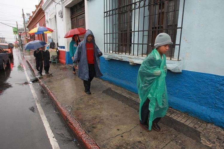 Se espera que la lluvia retorne al territorio nacional a partir de este jueves. (Foto Prensa Libre: Hemeroteca PL)