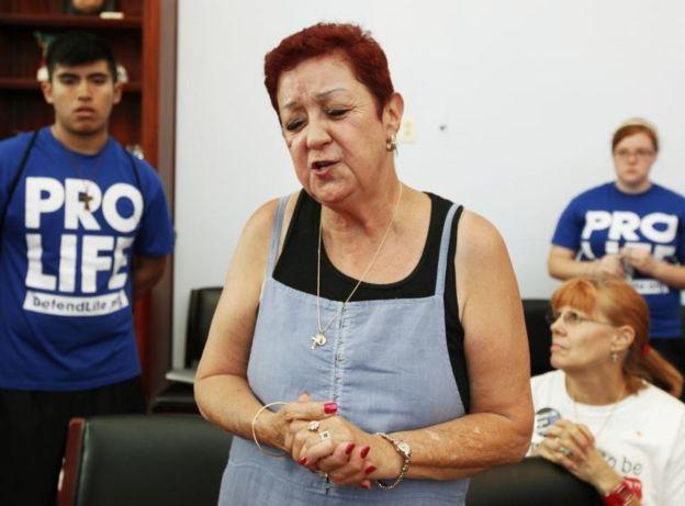 Norma McCorvey participó de varias campañas anti-aborto años después del fallo de la Corte Suprema. AP