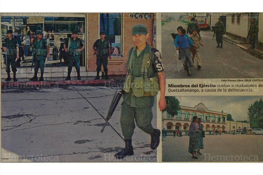 Cinco departamentos solicitaron más fuerza de tarea al Ejército por aumento de la violencia, el 31/10/2006. (Foto: Hemeroteca PL)