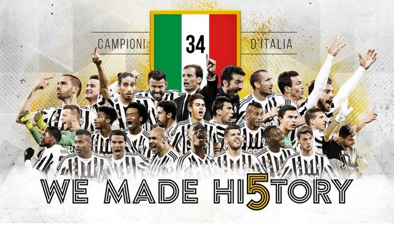 La Juventus de Turín celebró el pentacampeonato hace dos semanas. (Foto Prensa Libre: Juventus)