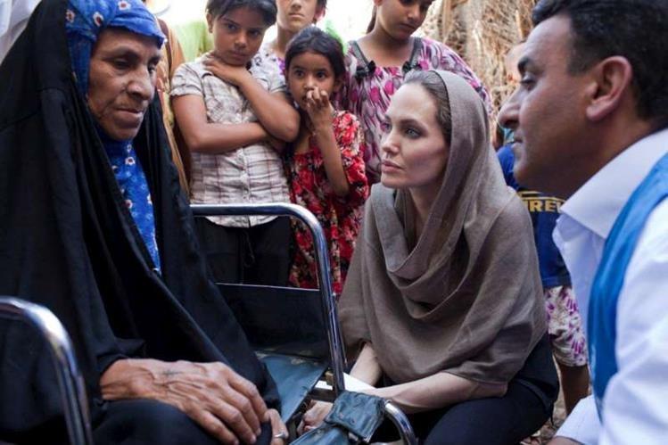 Angelina Jolie actúa como enviada especial de Acnur, la agencia de la ONU para los refugiados.