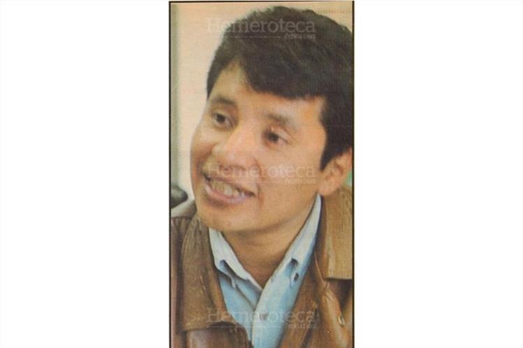 Édgar Ajcip, alcalde indígena más joven en 1999. (Foto: Hemeroteca PL)