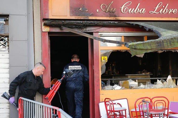 """Bar """"Cuba Libre"""", en Rouen, Francia, donde un incendio mató a 13 personas. (Foto Prensa Libre: AFP)"""
