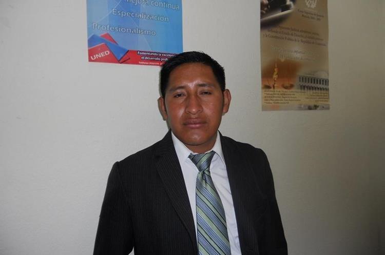 El periodista Oswaldo Ical Jom, quien en 2014 fue retenido por pobladores de Uspantán, Quiché. (Foto Prensa Libre: Héctor Cordero)