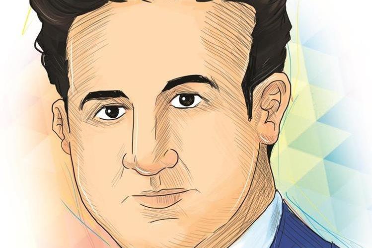 Mariano Valverde es el autor de Noche de luna entre ruinas. Ilustración Prensa Libre: Kevin Ramírez.
