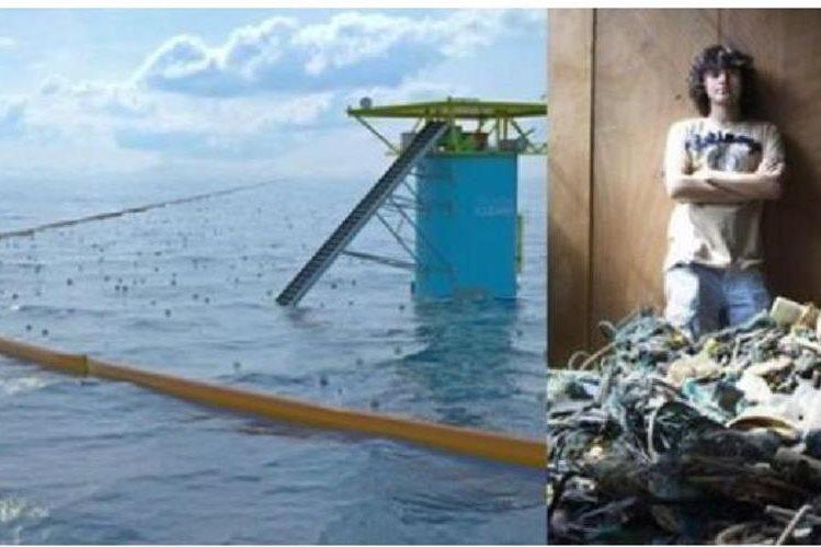 """Boyan Slat quiere luchar contra la """"sopa plástica"""" que flotan en los océanos."""