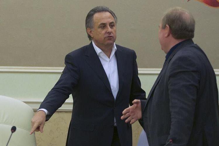 El ministro de deportes de Rusia, Vitaly Mutko se reunió este domingo con autoridades de la federación de atletismo. (Foto Prensa Libre: AP)