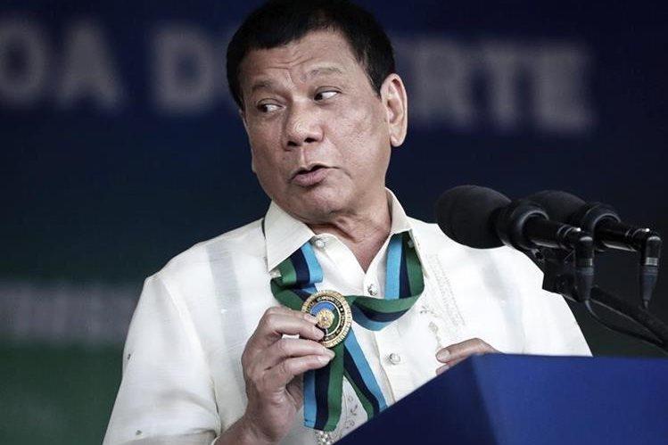 Rodrigo Duterte, presidente de Filipinas. (Foto Prensa Libre: EFE).
