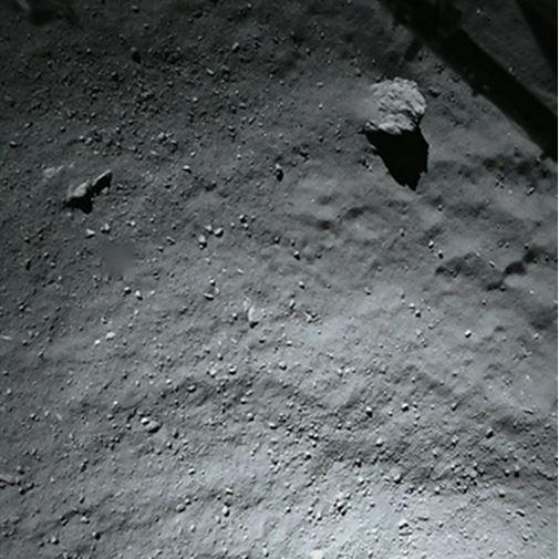 Superficie del cometa 67P captado por Rosetta. (Foto Prensa Libre: @Philae2014).