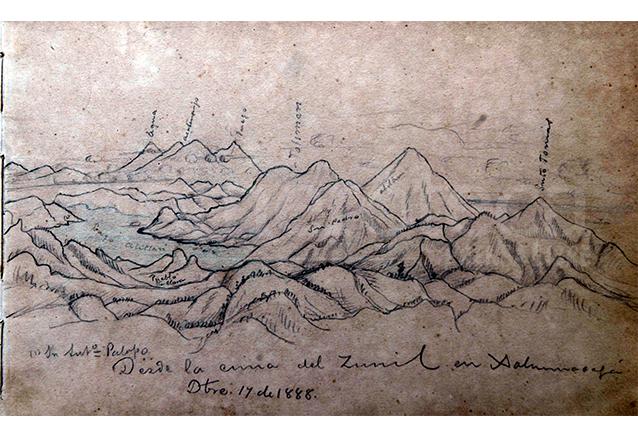 Uno de los dibujos de observaciones del ingeniero Francisco Vela. (Foto: Hemeroteca PL)