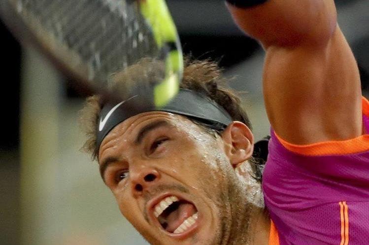 El tenista español Rafael Nadal, durante el partido de cuartos de final frente al belga David Goffin. (Foto Prensa Libre: EFE)